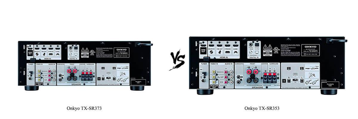 Onkyo TX-SR373 vs Onkyo TX-SR353 back