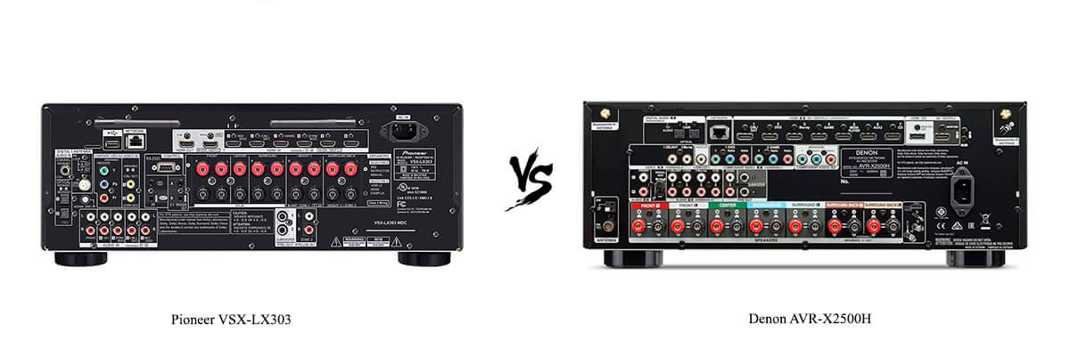 Pioneer VSX-LX303 vs Denon AVR-X2500H back