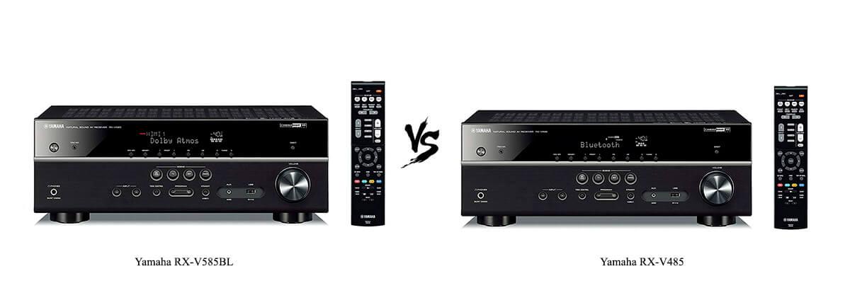 Yamaha RX-V585BL vs Yamaha RX-V485