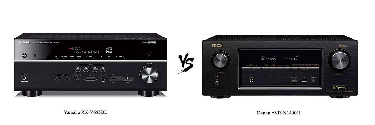 Yamaha RX-V685BL vs Denon AVR-X3400H