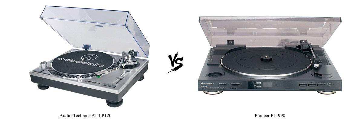 Audio-Technica AT-LP120 vs Pioneer PL-990