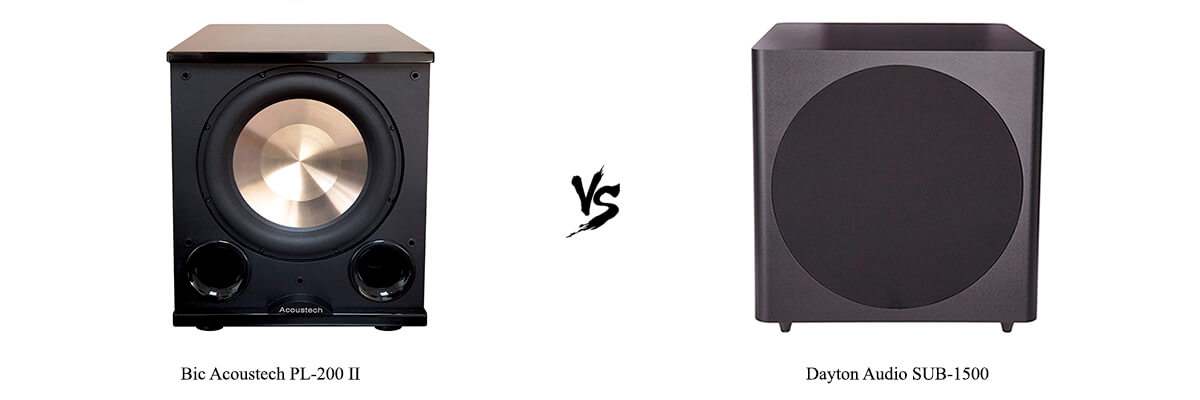 Bic Acoustech PL-200 II vs Dayton Audio SUB-1500