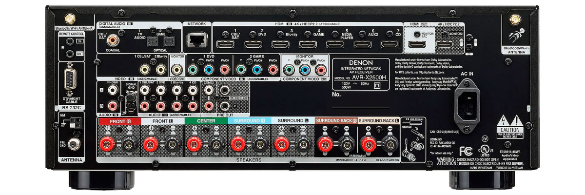 Denon AVR-X1500H vs AVR-X2500H Review [2019] - HelpToChoose